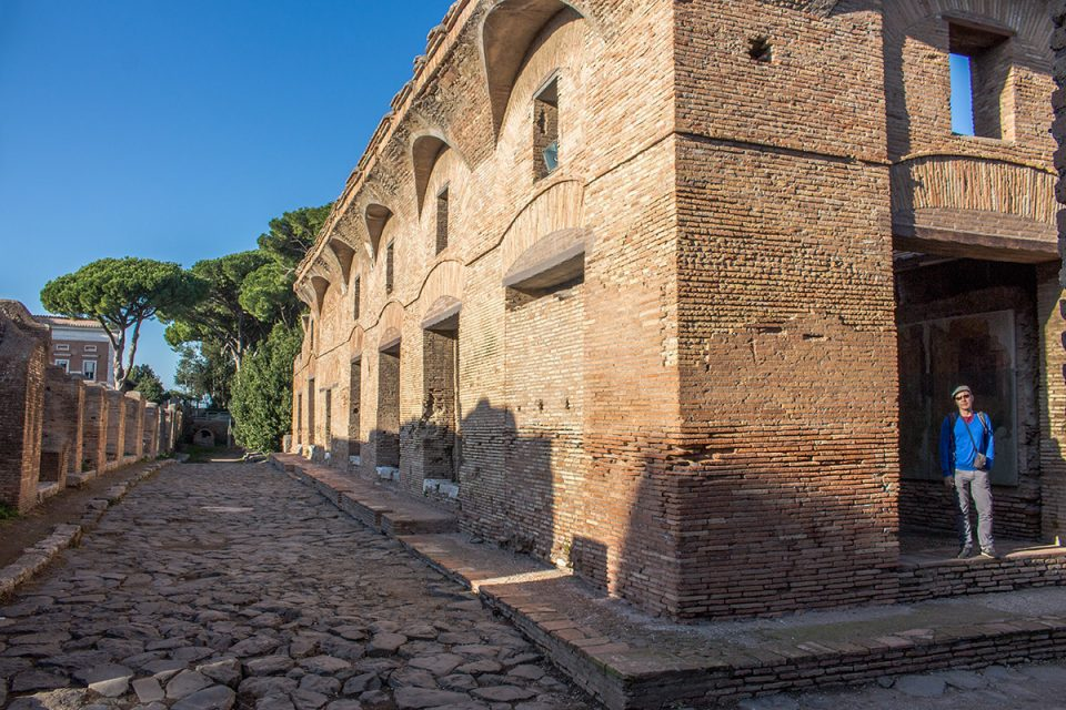 Things to do in Rome: A Roman-era street in Ostia Antica