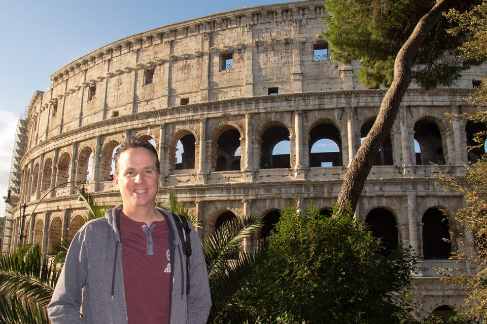 Things to do in Rome: Tony at the Colosseum