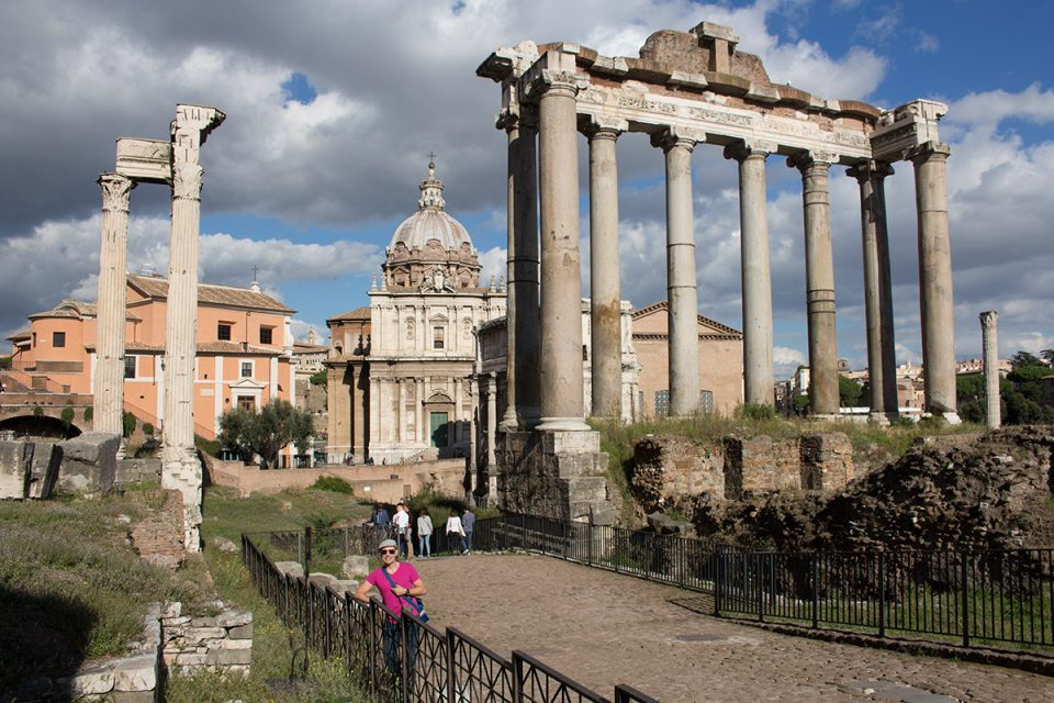 Things to do in Rome: Thomas at the Roman Forum