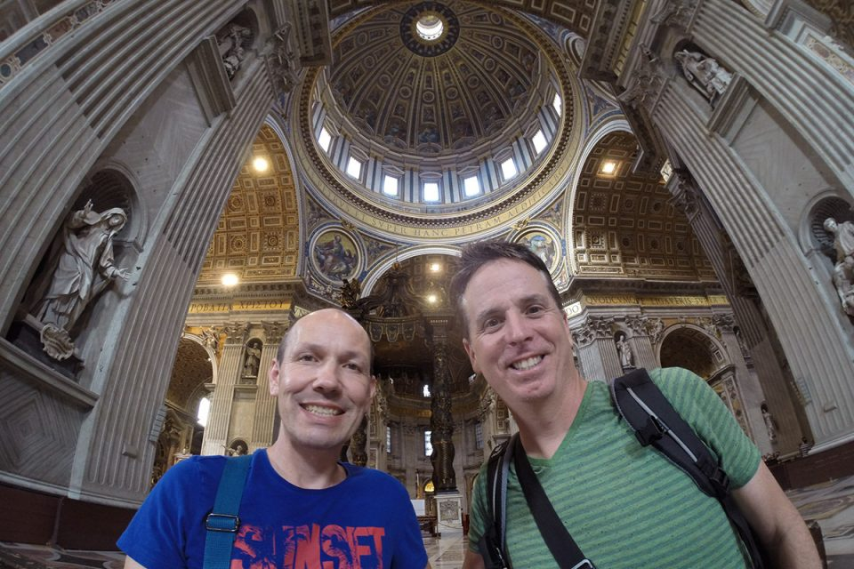 Things to do in Rome: Tony and Thomas at the Vatican