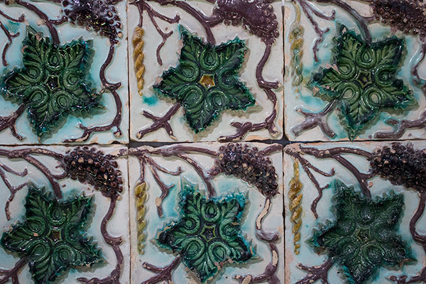 Grape leave tiles from National Palace of Sintra
