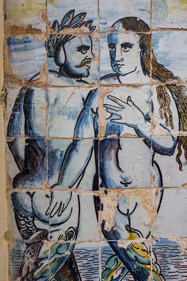 Racy tiles at Palácio Fronteira