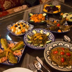Moroccan salads at Riad Maryam