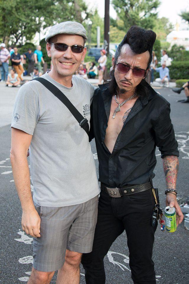 Thomas with Yoyogi Park Rockabillies