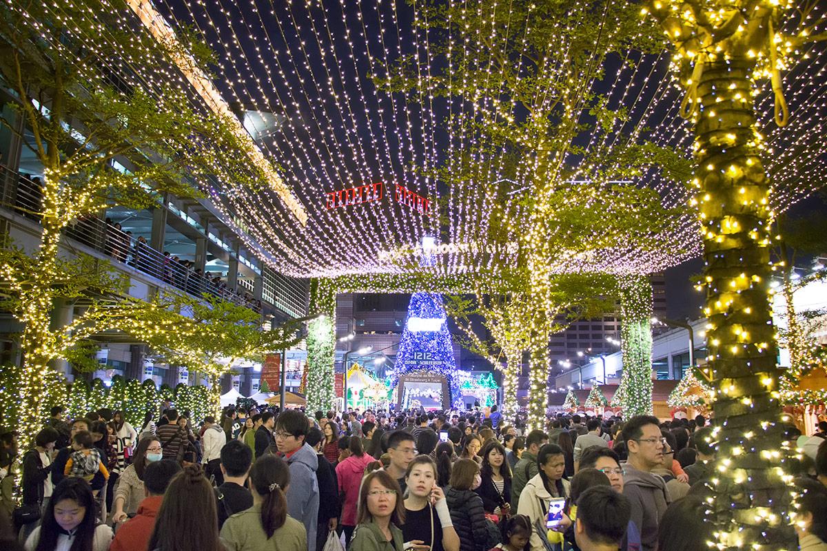 Christmas at Taipei 101