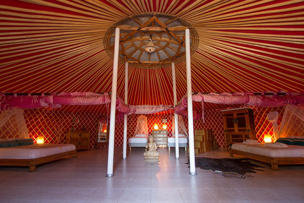 Mongolian yurt at Finca de Arrieta
