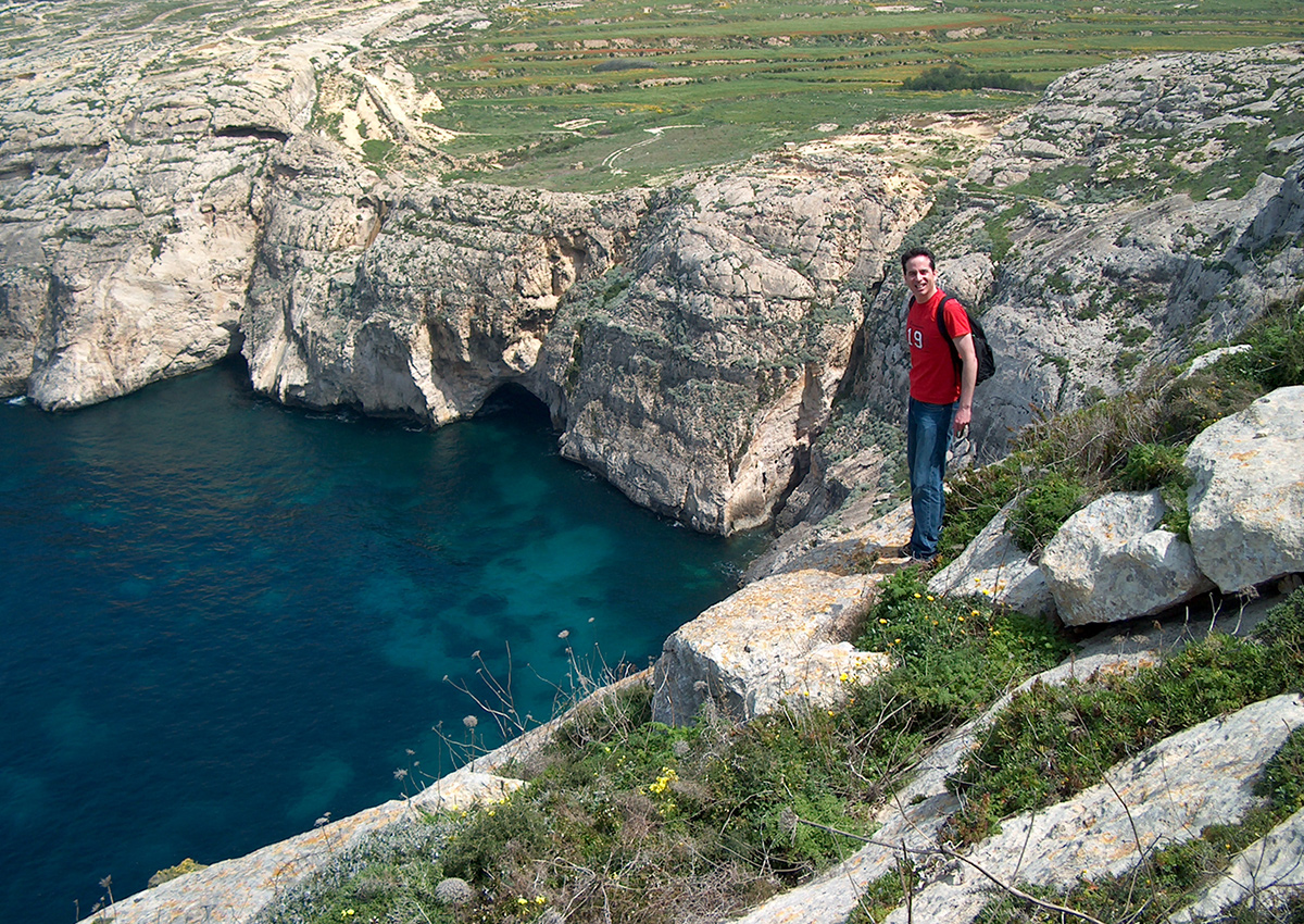 Taking in the crystal waters of Gozo