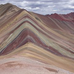 Spectacular Vinicunca as seen from viewpoint