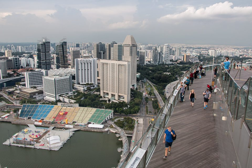 Things to do in Singapore: View from Sands Skypark in Singapore