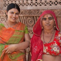 Indian Women at Sachiya Mata Temple in Osian