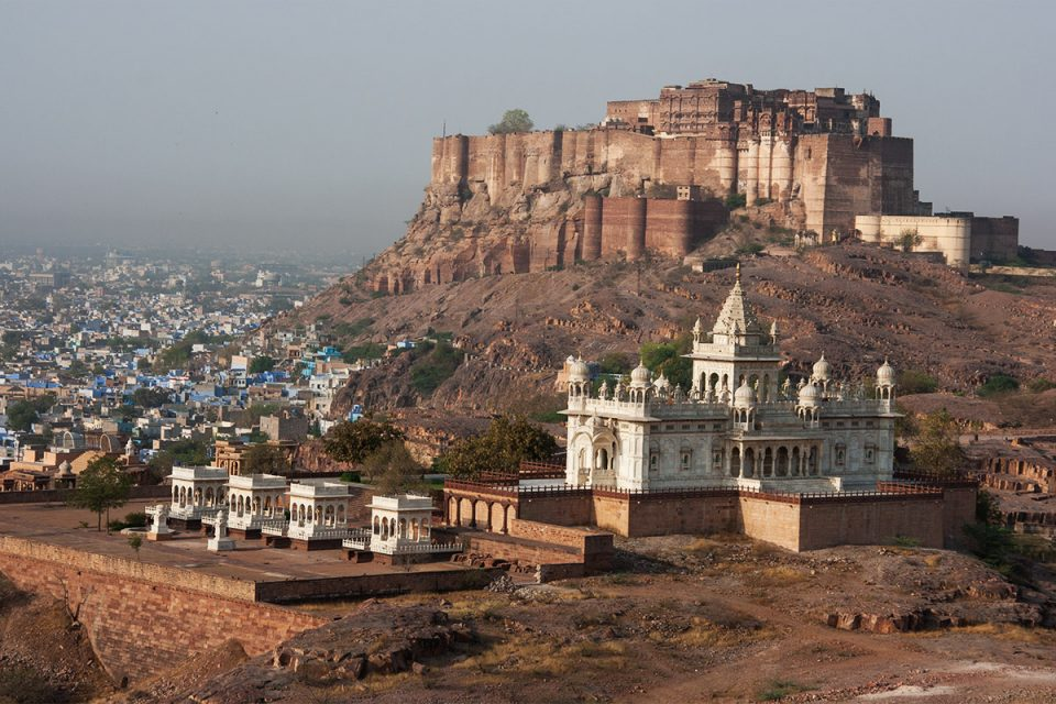 Places to visit in Jodhpur: View of Mehrangarh Fort from Jaswant Thada