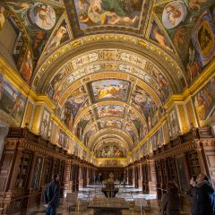 Day trips from Madrid: Library in El Escorial, Spain