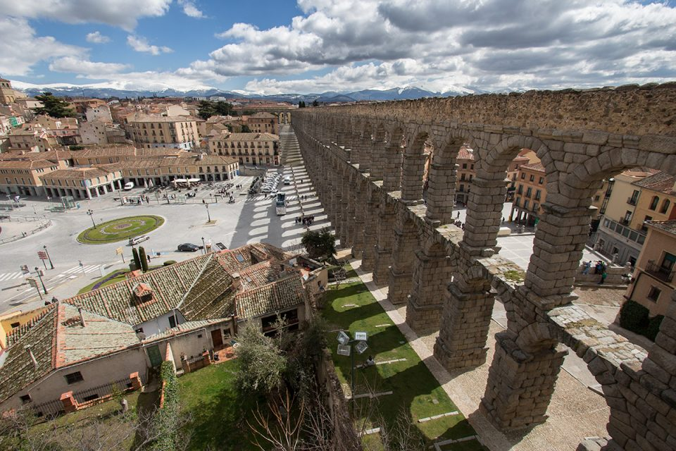 Day trips from Madrid: Roman aqueduct in Segovia, Spain