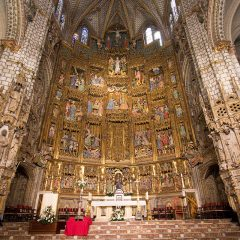 Day trips from Madrid: Altarpiece in Toledo Cathedral, Spain