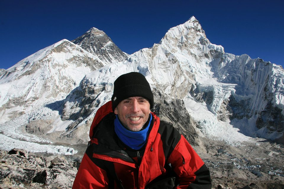 Tony at Mount Everest