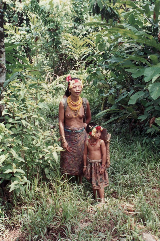 Mother and child on Pulau Siberut