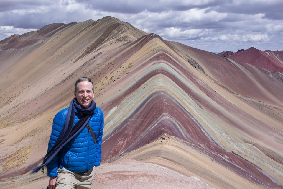 The Rainbow Mountain on the Ausangate Trek