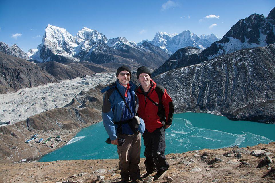 Tony and Thomas in the Gokyo Valley, Nepal