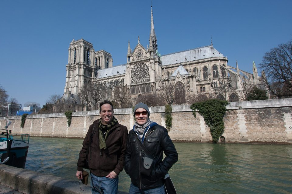 Tony and Thomas at Notre Dame