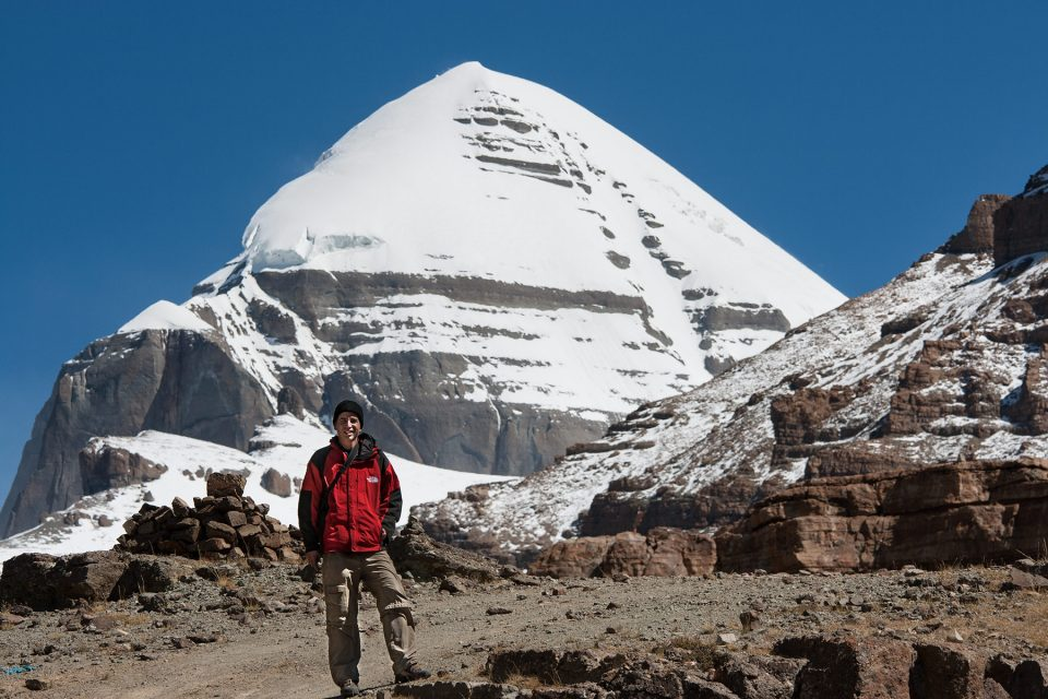 Tony backed by Mount Kailash