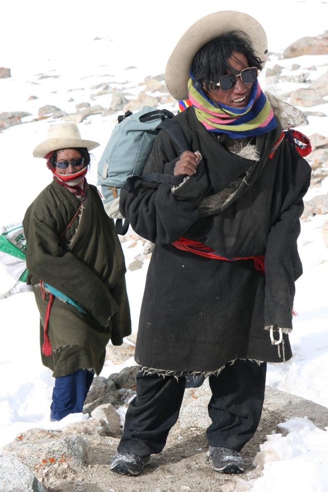 Tibetan Pilgrims on Kailash kora