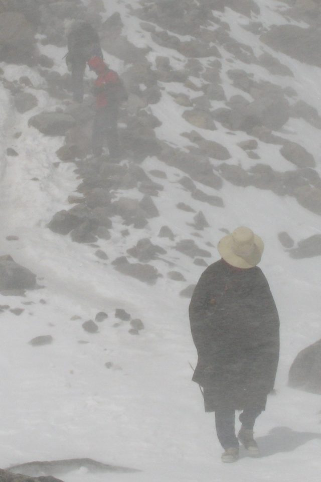 Snow storms on the Kailash kora