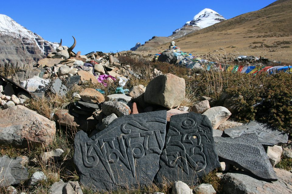 Stone tablets in a mani pile