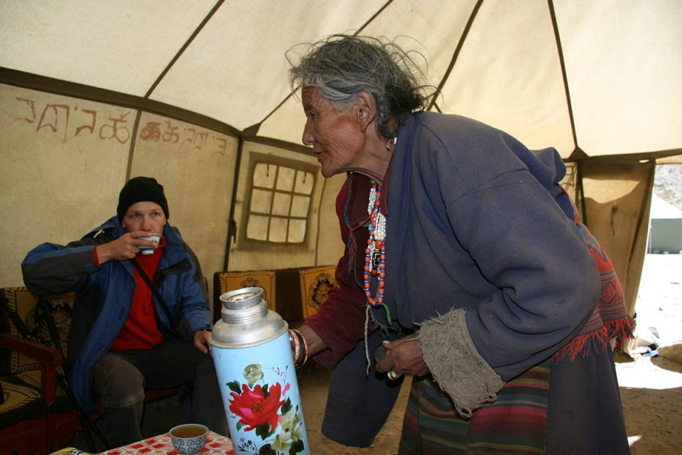 A tea tent on the Kailash kora
