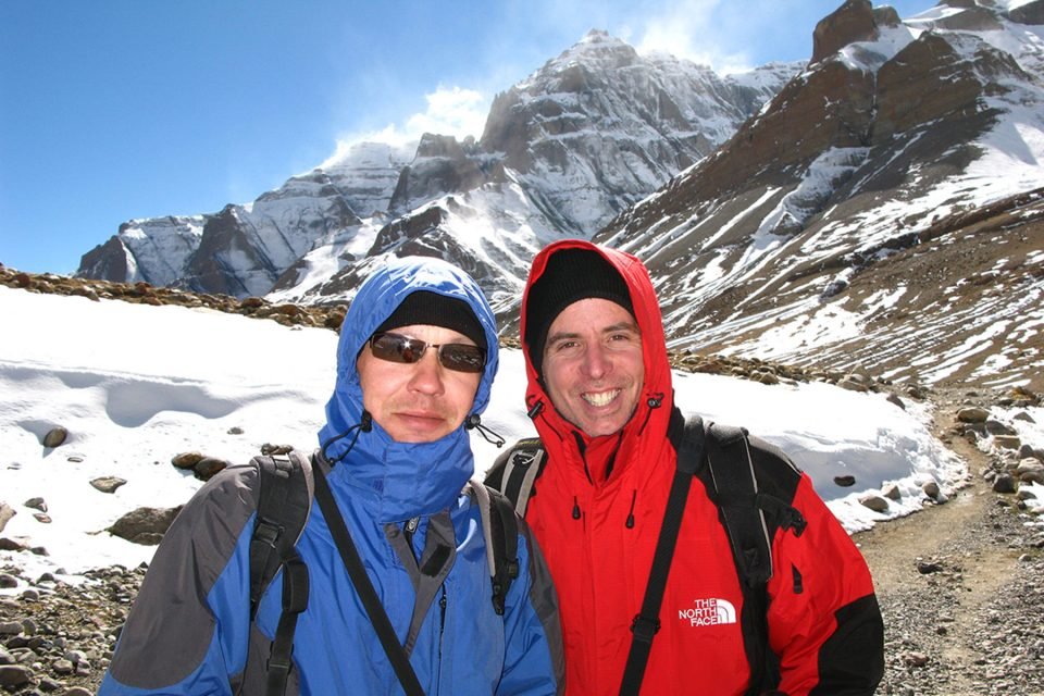Tony and Thomas on the trail around Mt. Kailash