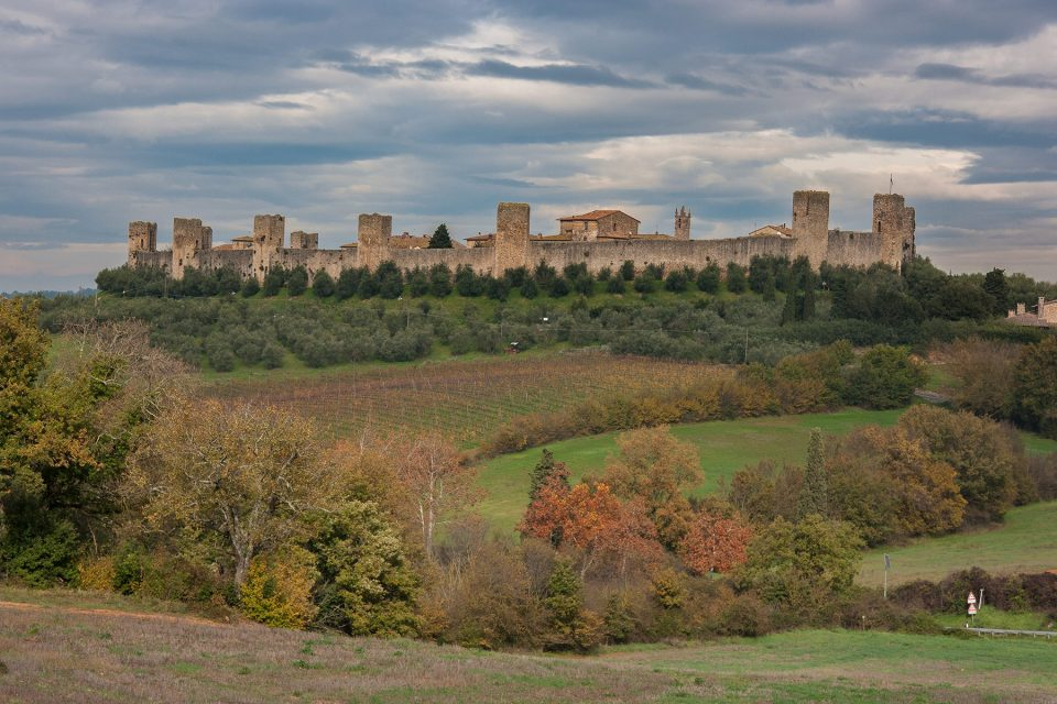 The walled town of Monteriggioni