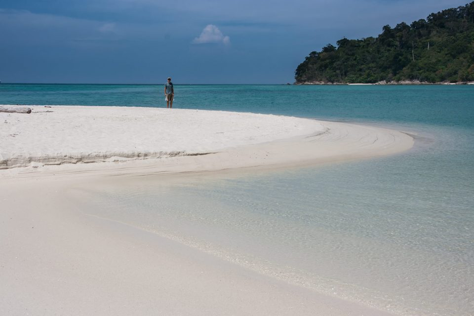 The gorgeous sandspit on Koh Adang in Thailand