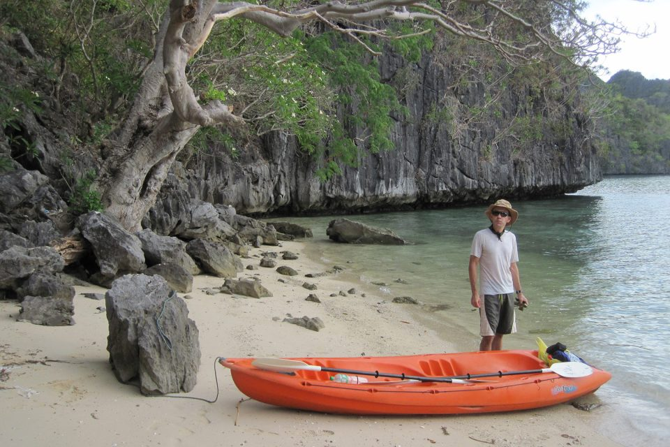 Isolated beach on Coron Island