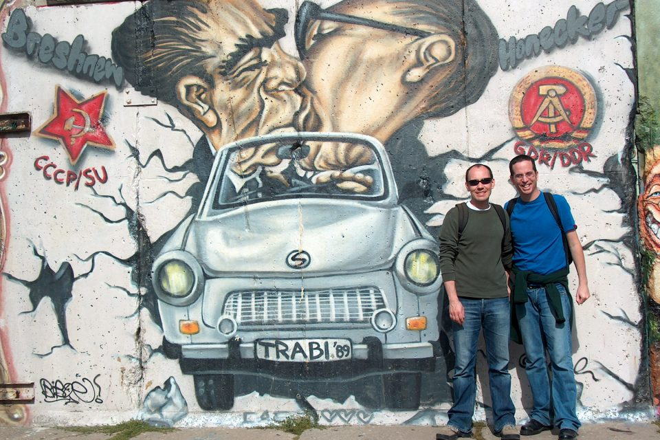 Tony and Thomas at East Side Gallery
