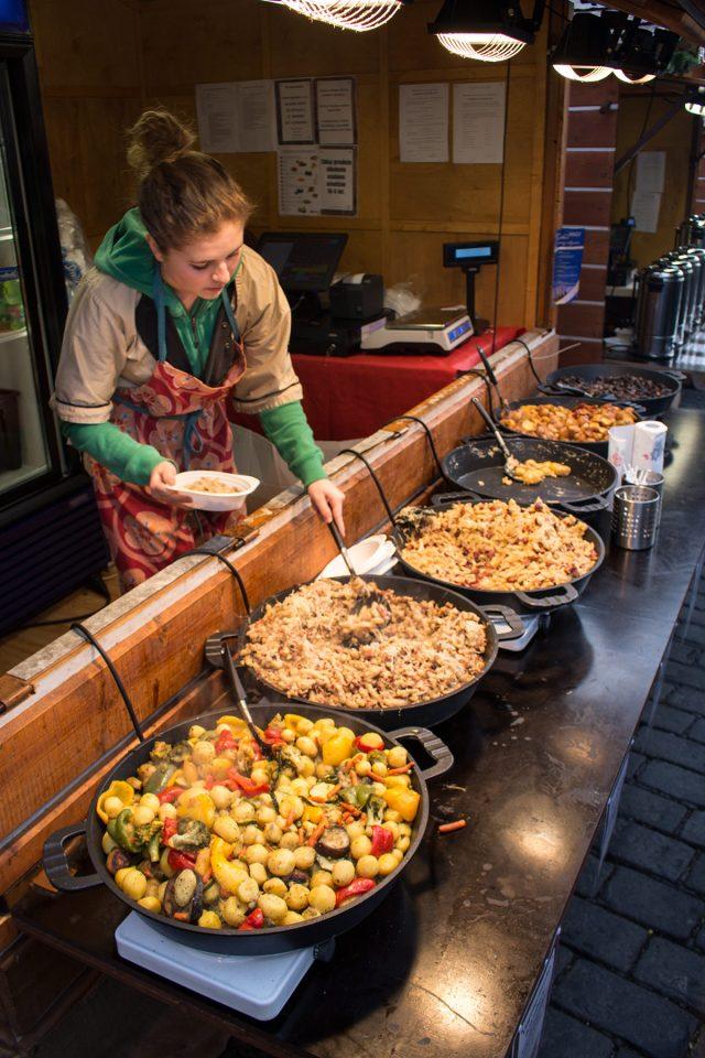 Czech Christmas market food