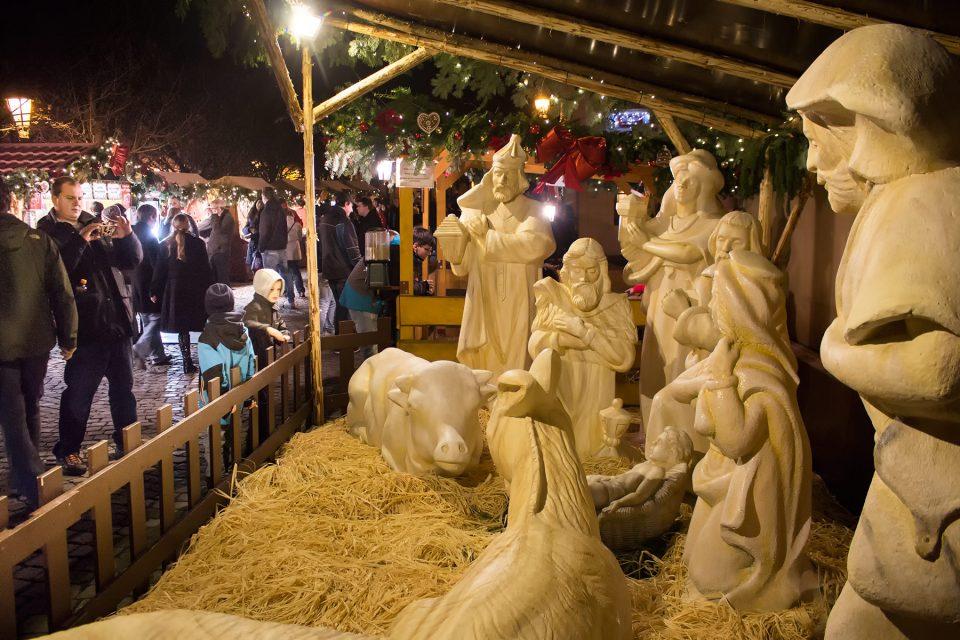 Christmas display in Prague