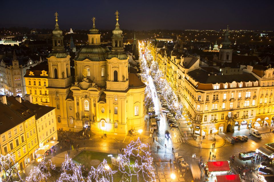 Christmas in the streets of Prague