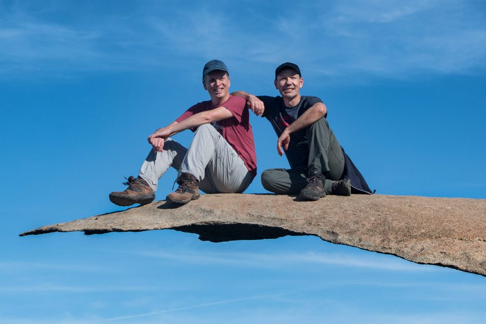 Tony and Thomas at Potato Chip Rock