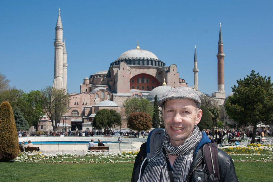Thomas in front of Hagia Sophia