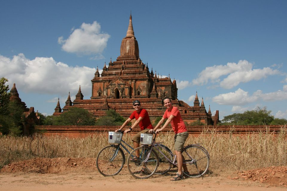Biking the temples of Bagan in Myanmar