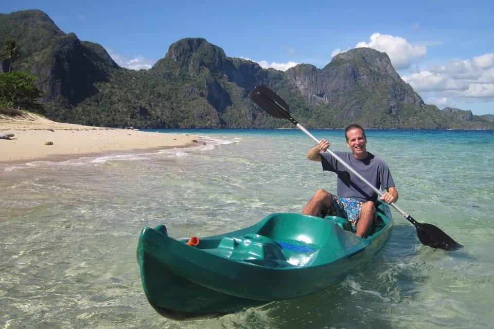 Kayaking the islands of El Nido, Philippines