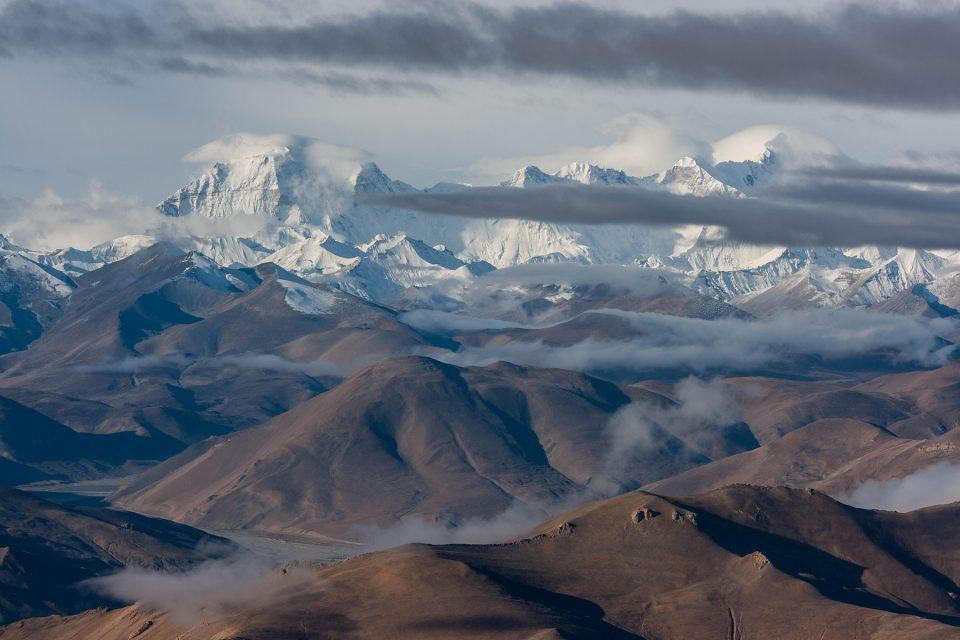 Cho Oyu seen from Pang La Pass in Tibet
