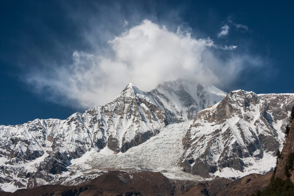 Dhaulagiri viewed from the Annapurna Circuit