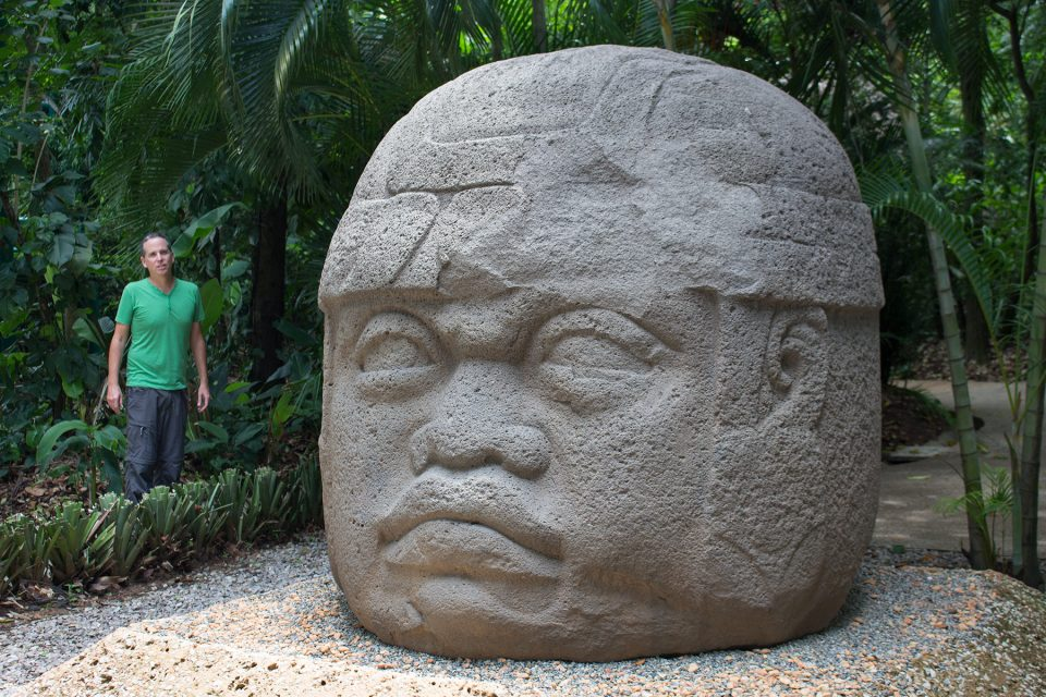 Colossal Olmec head at La Venta (Monument 1)