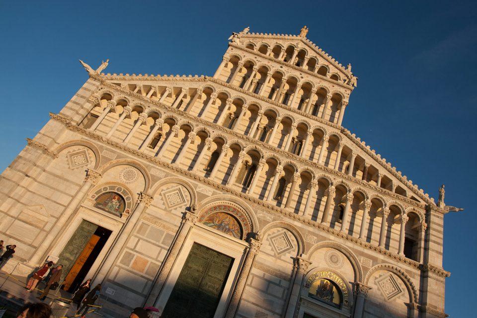 Facade of Cathedral of Santa Maria Assunta Pisa