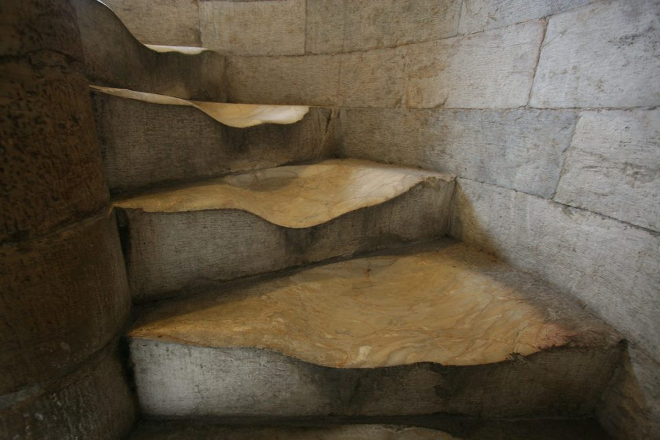 Worn Steps of Leaning Tower of Pisa