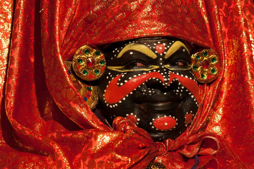 Demoness in Kathakali performance