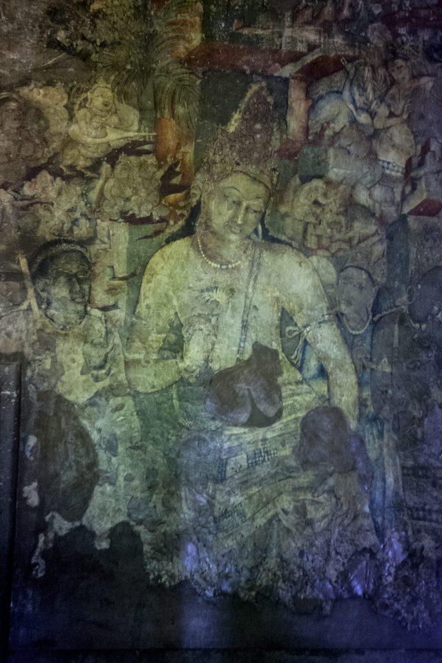 Cave-temple painting of Bodhisattva Padmapani at Ajanta