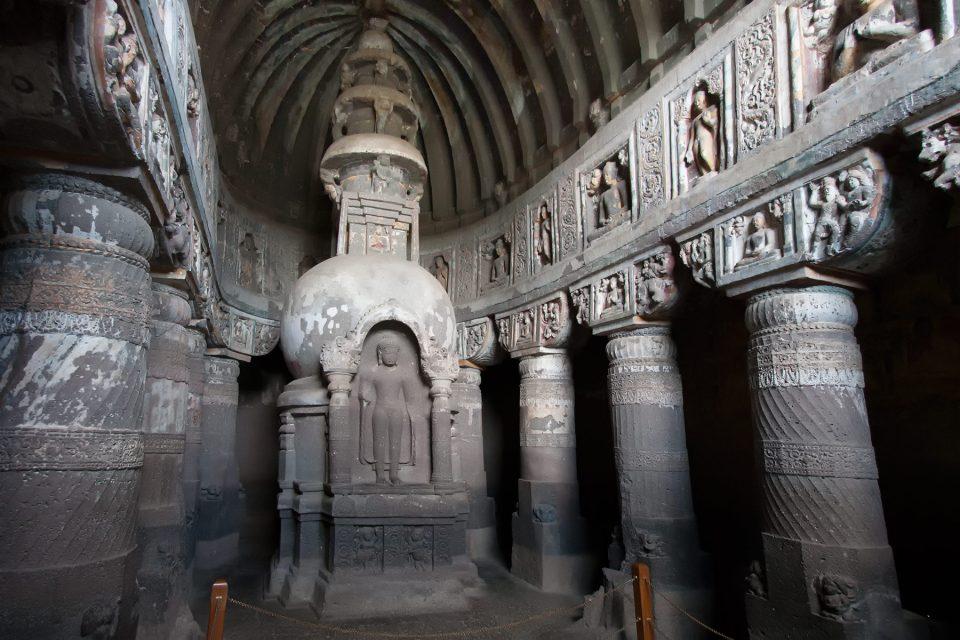 Cave 19 at Ajanta