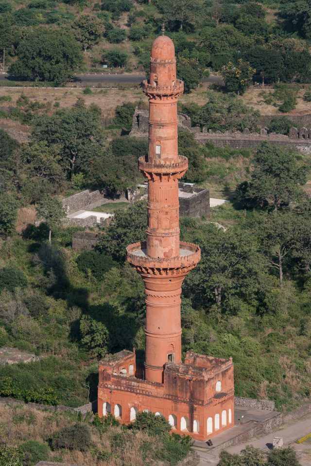 Aerial view of the Chand Minar