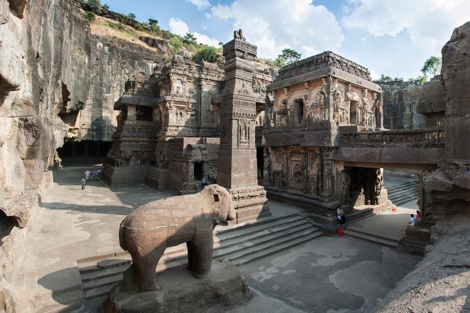 Kailasa Temple at Ellora Caves in the state of Maharashtra